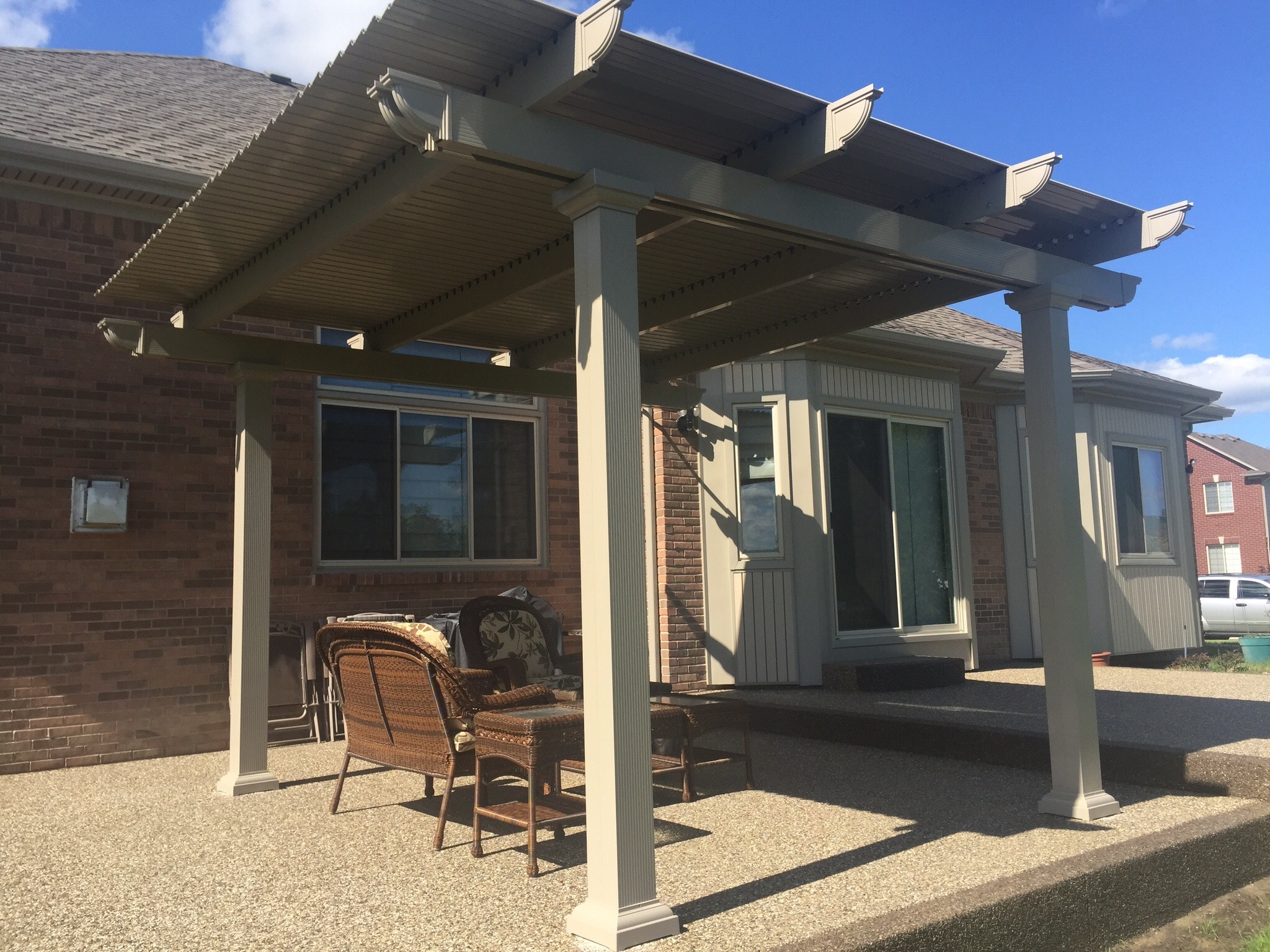 should install a louvered patio cover