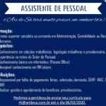ASSISTENTE DE PESSOAL (ATE 06/02/2020) – FORTALEZA/CE