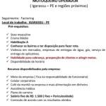 MOTOQUEIRO OPERADOR – IGARASSU/PE