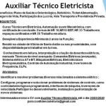 AUXILIAR TÉCNICO ELETRICISTA (ENVIAR CV ATE 30/05/2020) – RECIFE/PE