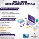 AUXILIAR DE DEPARTAMENTO PESSOAL – RIO DE JANEIRO/RJ