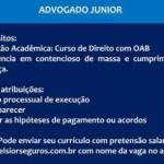 ADVOGADO JUNIOR – RECIFE/PE