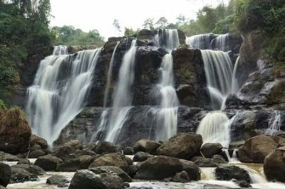 Beautiful Malela Waterfall The little Niagara at Indonesia