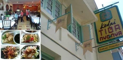 Kuliner Kedai tiga Nyonya Jakarta