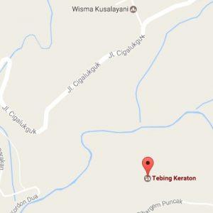 Lokasi Wisata Tebing Keraton Dago Bandung