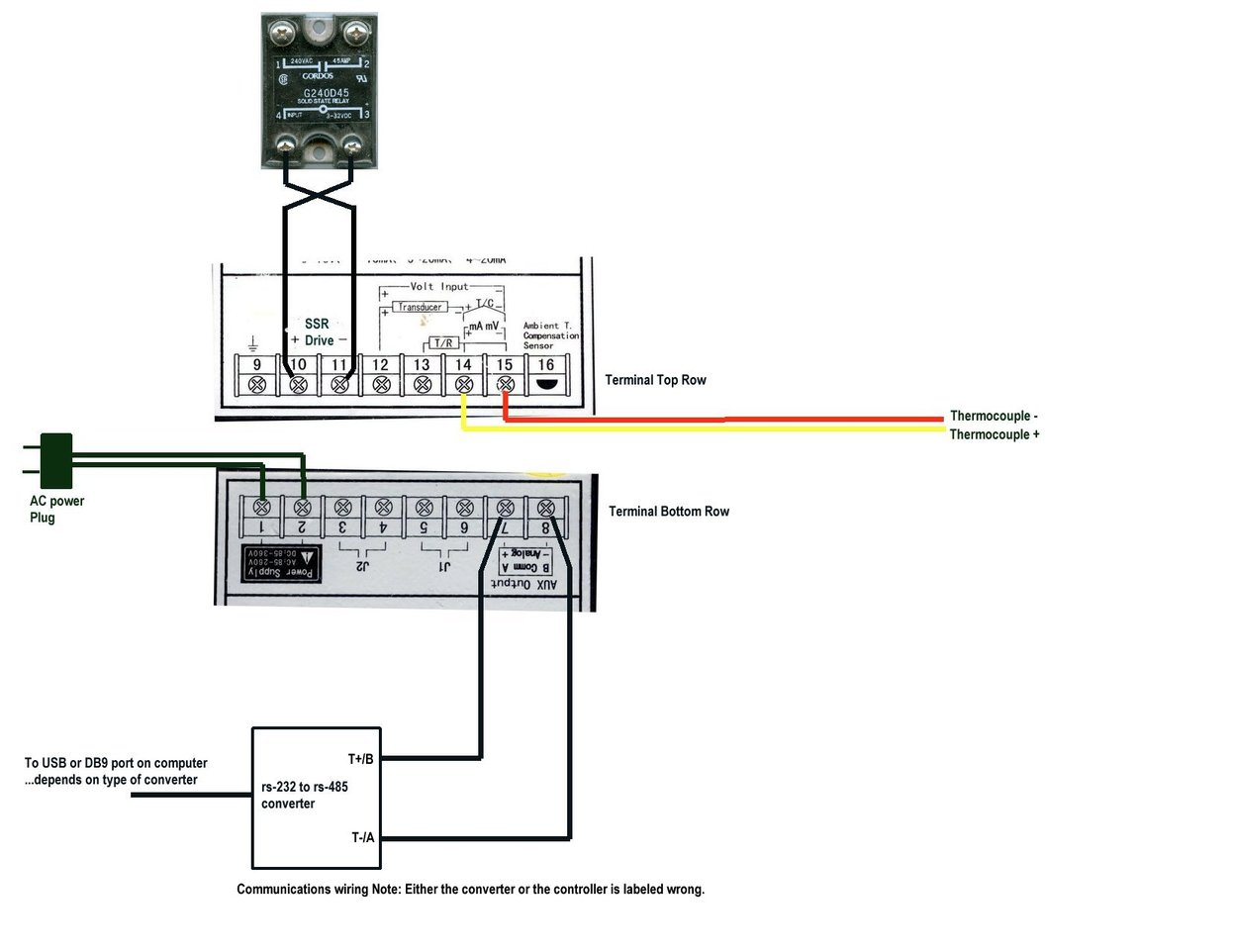 Wiring The Jld 612 Pid Controller With Solid State Relay Auto Jld612 Diagram Wire Switch In As Shown Below