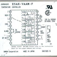 Omron Temperature Controller Wiring Diagram Minn Kota Power Drive Listings Of User Sales Embeddedrf Com E5ax Back Panel Terminal Connections