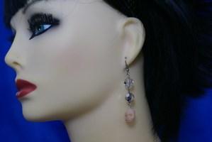 Glow in dark skull and bead earrings