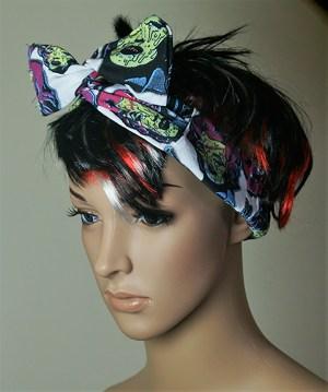 Zombie Marilyn Monroe print hair band