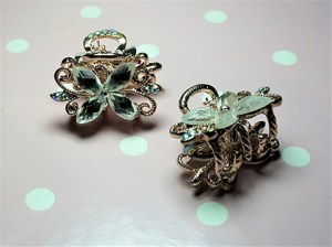 Lolita Steampunk flower hair clips
