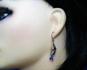 3D fish earrings