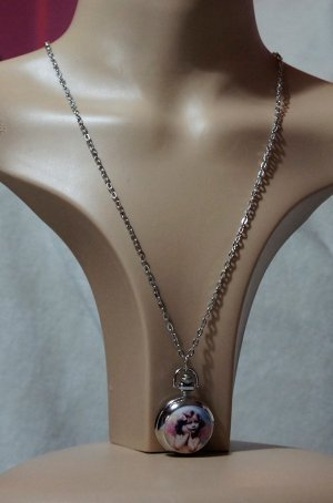 Angel pocket watch pendant necklace