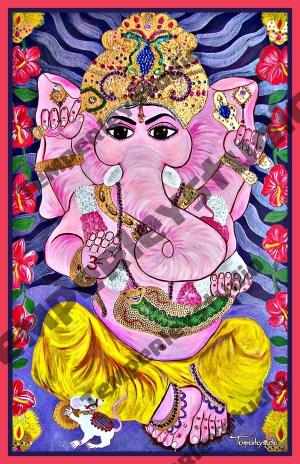 Ganesha in lotus love