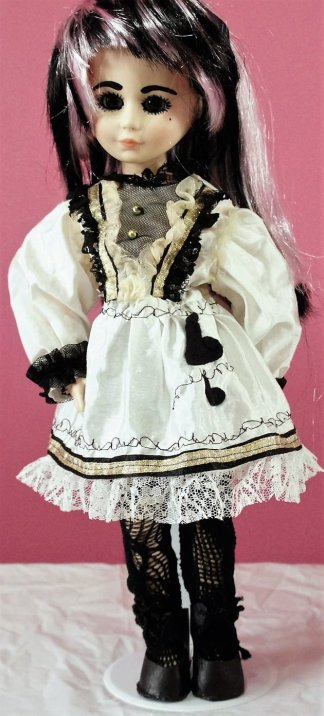 White Lolita Alice heart dress