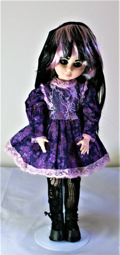 Purple and lace Lolita floral dress