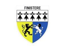 "⇒ Autocollant Sticker Adhésif ""Blason du Finistère"" - Made in BZH"