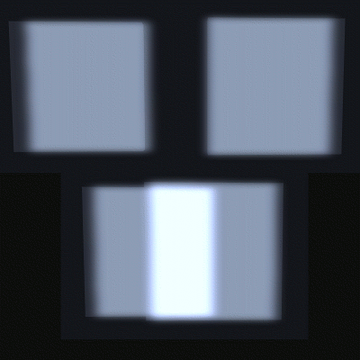 Overlapped glow example