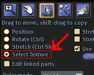 Select Texture Button