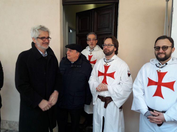 Verona Templari Cattolici d'Italia Vescovo e Autorità in san Fermo tomba Arnau de Torroja