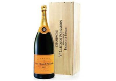 Veuve Clicquot Champagne (Salmanazar 9L) in Wood box NV