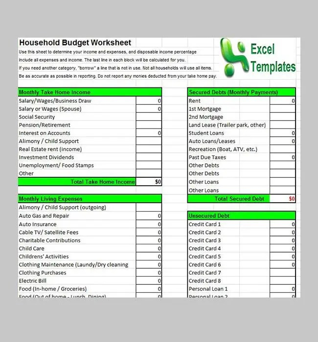 free event budget template excel