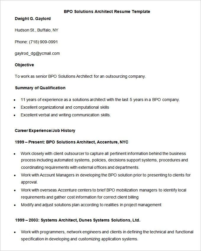 Bpo Jobs Resume Format For Freshers Sample Customer Service Resume