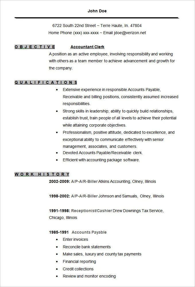 best accounting resume templates