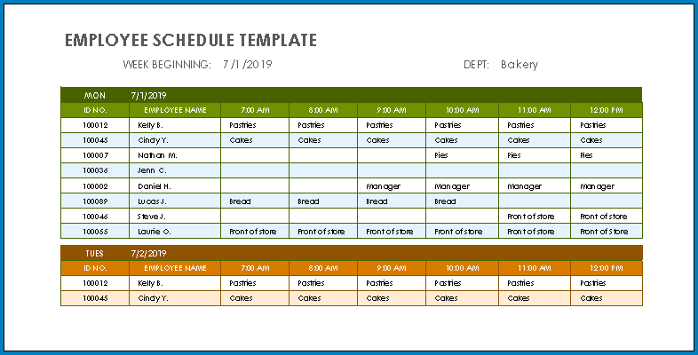 Tax forms, wisconsin schedule u if you underpaid your estimated income taxes for the prior year, you need to file schedule u along with your other tax forms to ensure that you are up to date on your tax payment. Free Printable Employee Schedule Template Excel