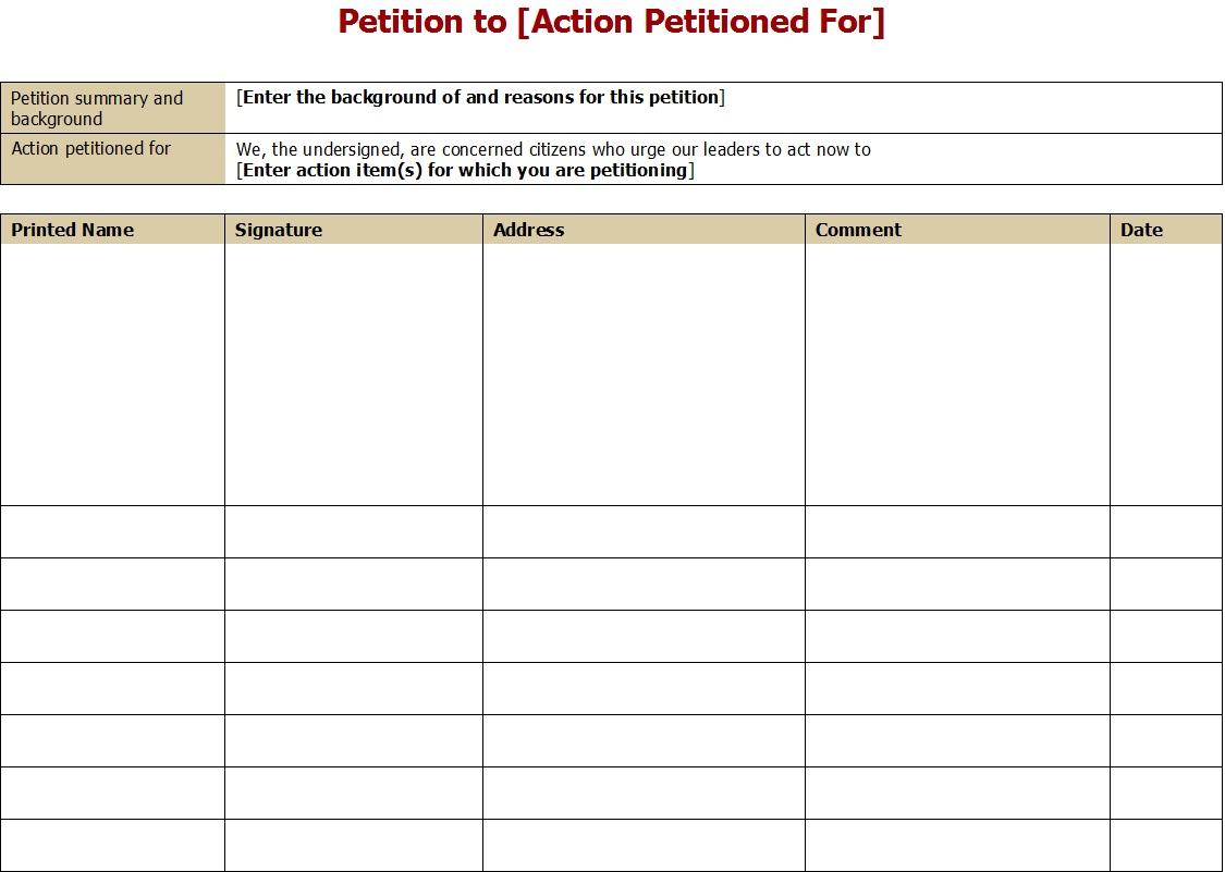 48 Free Petition Templates Amp Samples