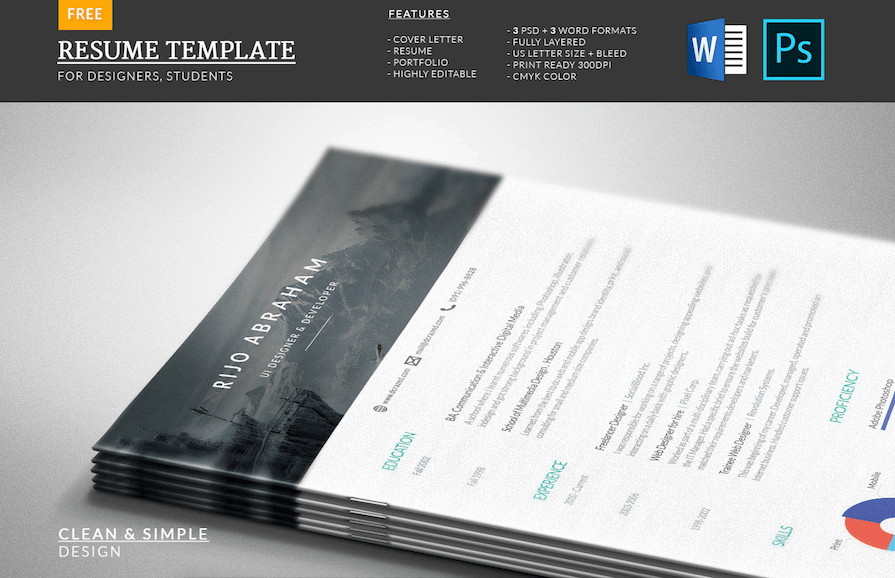 modern microsoft word resume templates fonts