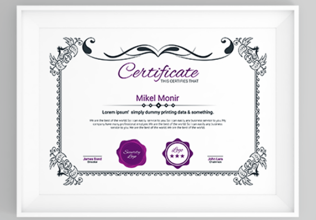 50 Multipurpose Certificate Templates and Award Designs