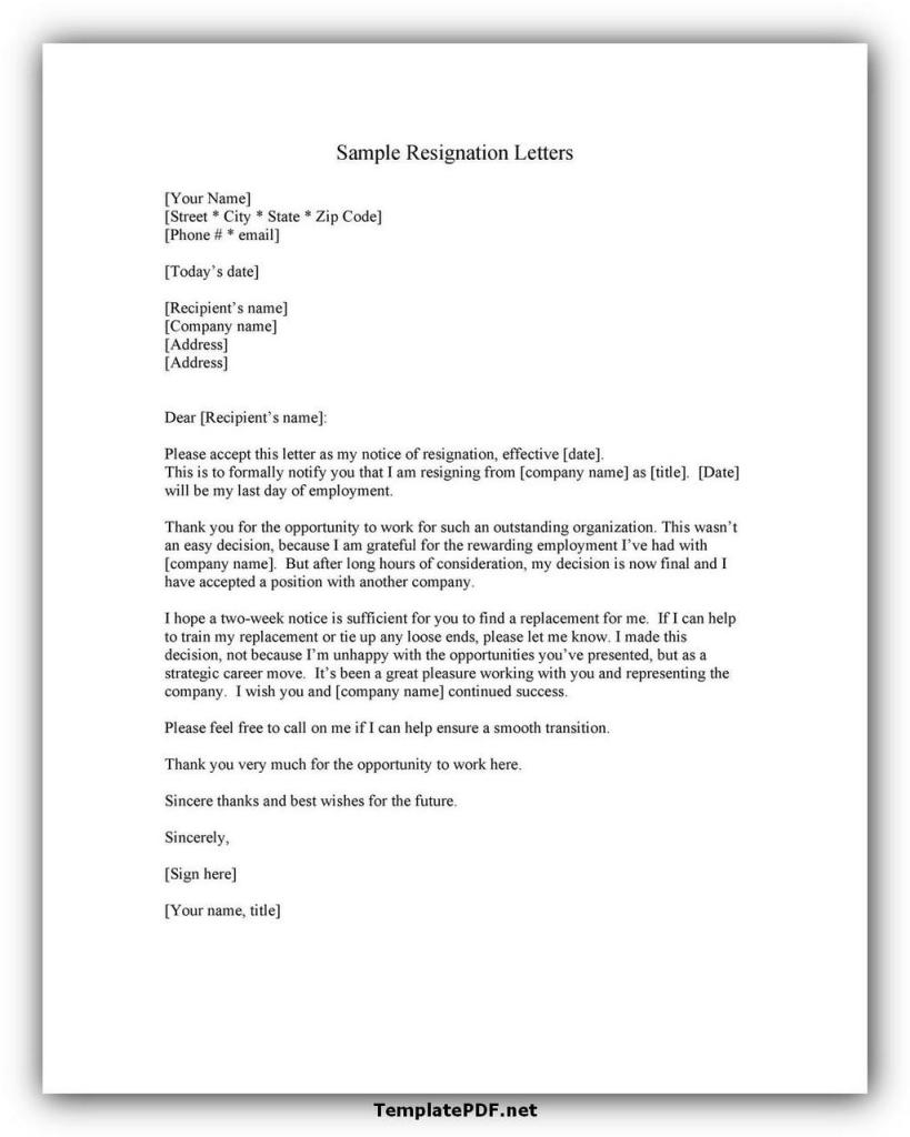 Two weeks notice Template 22