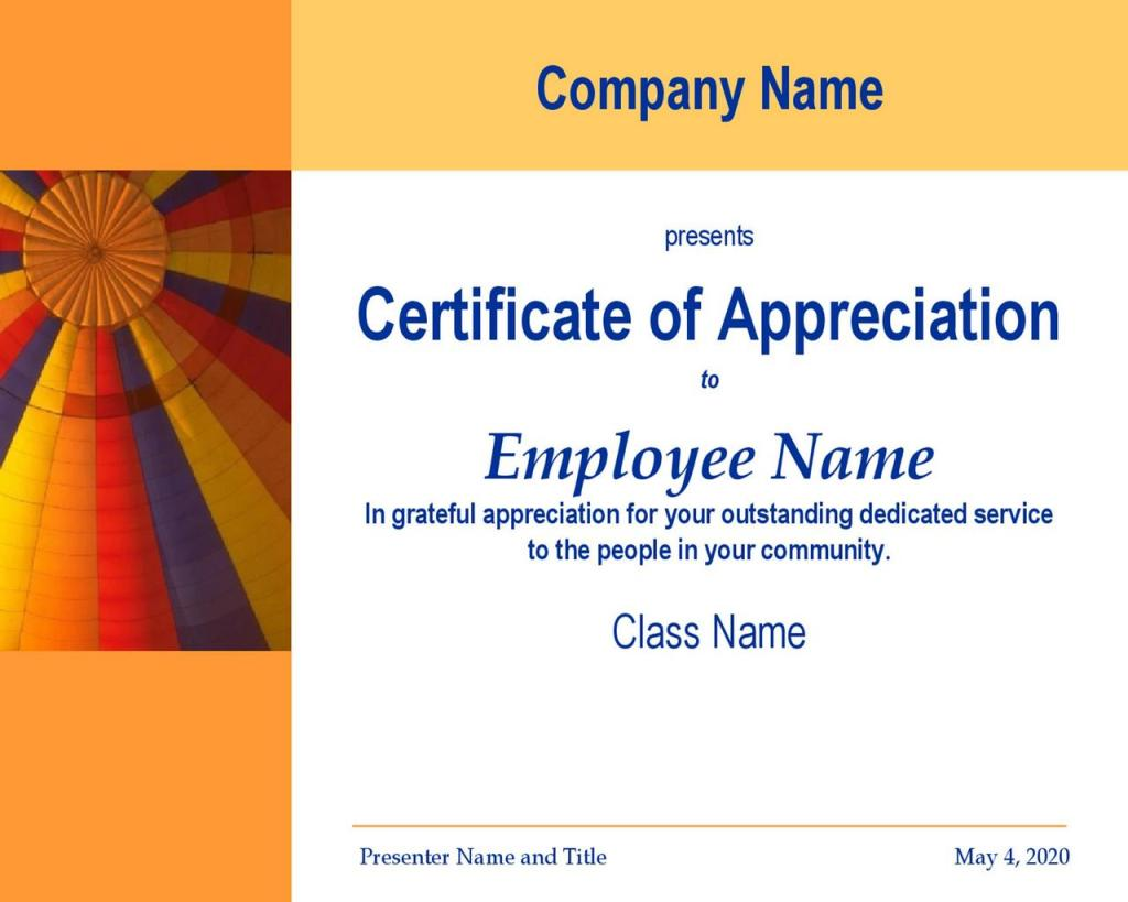 Certificate of Appreciation 26