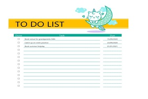 To Do List Template PDF Featured