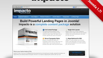 Impacto Joomla Template Joomla Landing Page Template For - Joomla landing page template