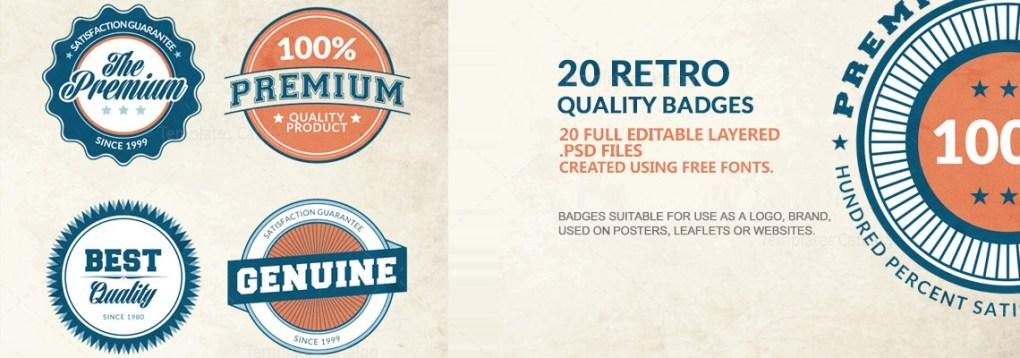 premium quality badges
