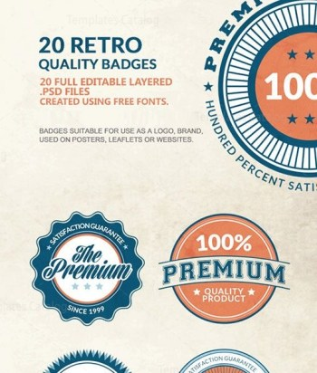 premium quality badges