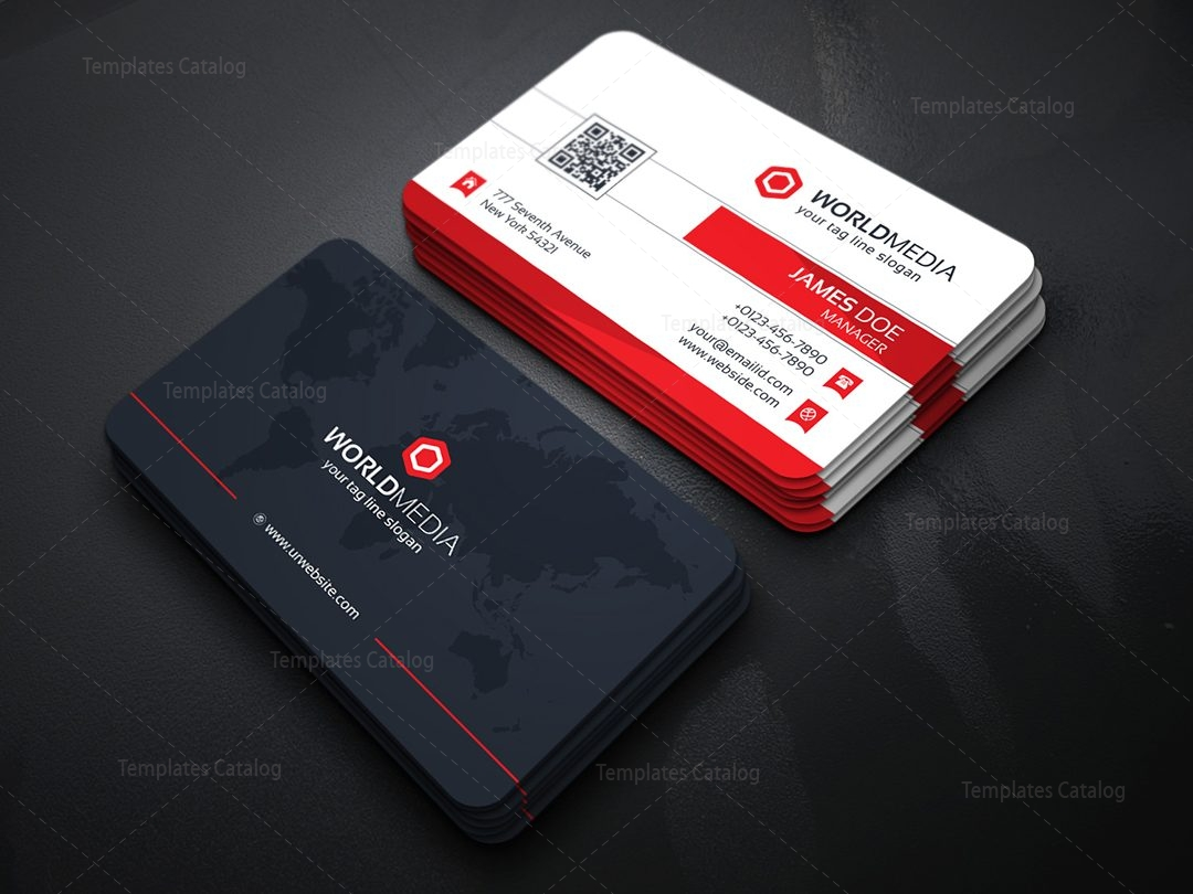 Media Company Business Card Template Template Catalog