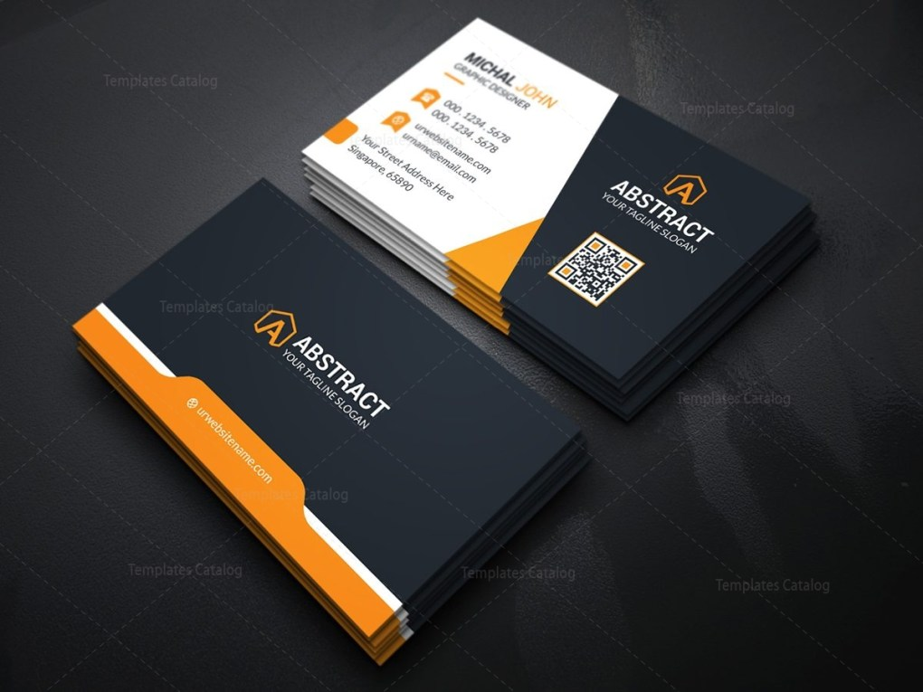 Dark Elegant Business Card Template Template Catalog