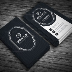 Black Style Vertical Business Card Template