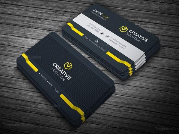 Dark Stylish Business Card Template