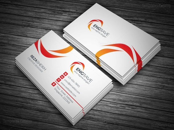 Engrave Business Card Template