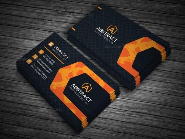 Global Company Business Card Template