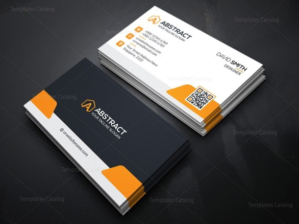 High Quality Business Card Template Orange