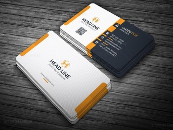 Stylish Orange Business Card Template