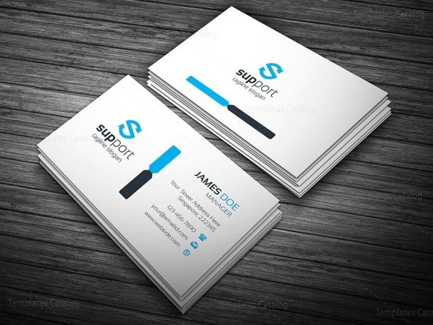 Support Business Card Template
