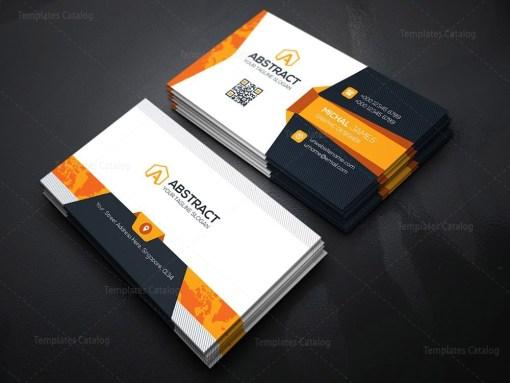 World Map Business Card Template