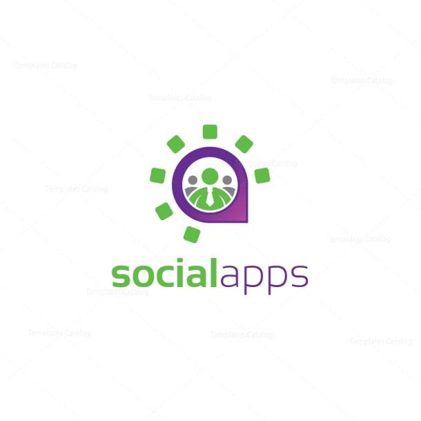 Social Application Logo Template