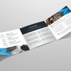 Tri-Fold Stylish Business Brochure Template
