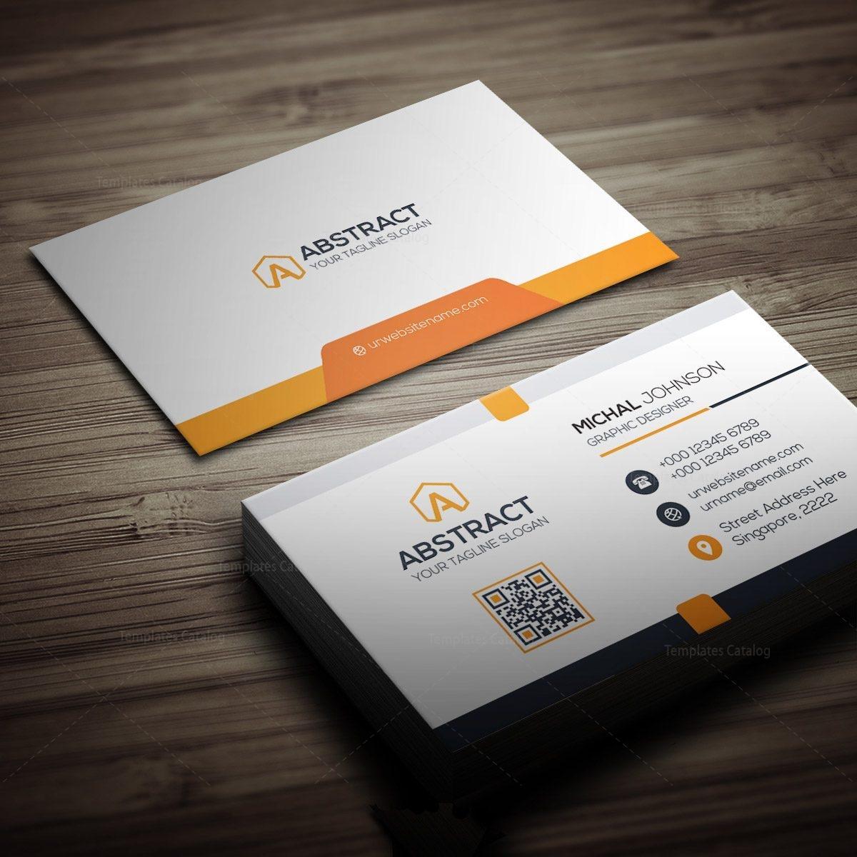 Clean Design Business Card Template 000259 - Template Catalog